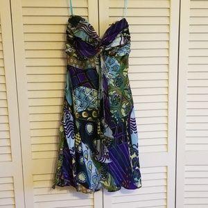 Cache Dresses - cache silk strapless dress size 4